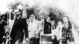 V roce 1941 ukrajinští nacionalisté vítali Němce a organizovali pogromy proti Židům ve Lvově. FOTO - wikimedia commons